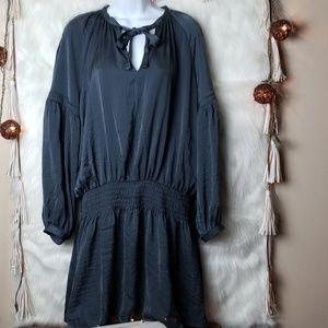 NWT Lucky Brand Silky Gunmetal Mini Dress